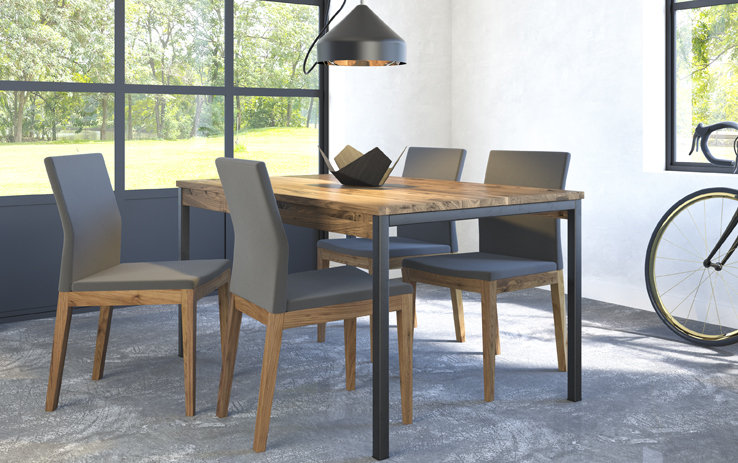 table Aron, chaise Slim