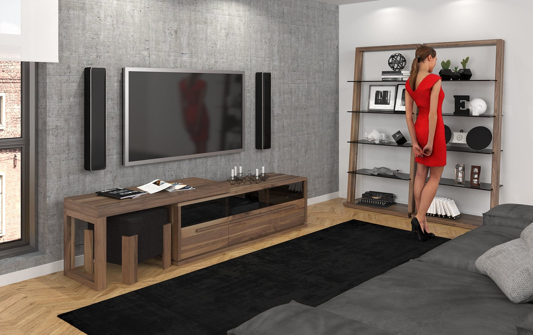 Verbois Meubles Contemporains Fabriqu S Au Qu Bec # Mesure Table Tv